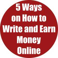 5 Ways on How to Write and Earn Money Online