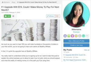 Article about what you Learn At Wealthy Affiliate as a Premium member