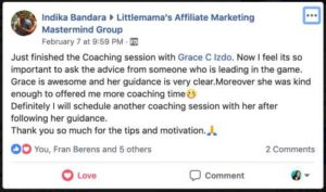 Indika Testimonial on Coaching Call
