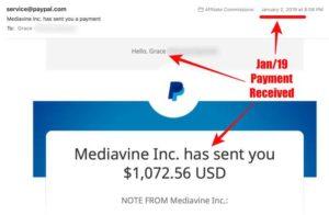 Mediavine Jan 2019 payment income proof