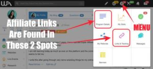 Where To Find Affiliate Links On Wealthy Affiliate