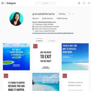 Instagram profile graceakalittlemama