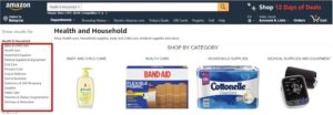 Amazon side menu