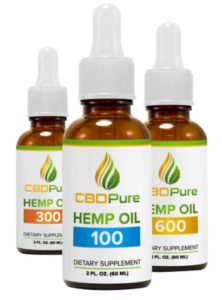 Bottles of CBD Pure Hemp Oil