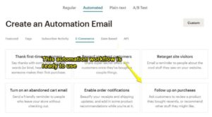 Creating automation workflow