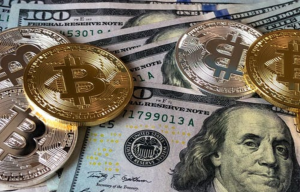 Cash and Bitcoin Cryptocurrency