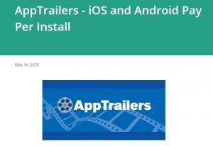 App trailer webpage screenshot