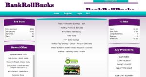 Bank Roll Bucks webpage screenshot