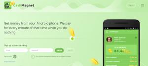 cash magnet app webpage screenshot