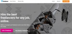 freelancer webpage screenshot