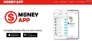 money app webpage screenshot