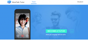 nice talk tutor webpage screenshot