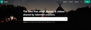 pexels homepage screenshot
